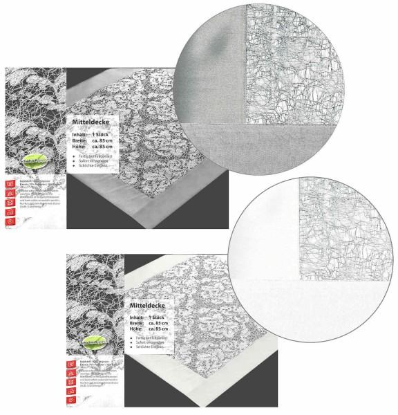 Mitteldecke Tischdecke Organza mit Lurex 85 x 85 cm