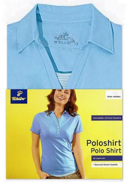 TCM Tchibo Damen Poloshirt Hellblau
