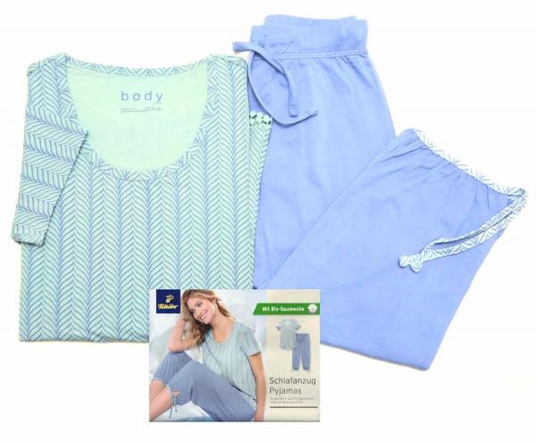 TCM Tchibo Damen Schlafanzug Blau-mint