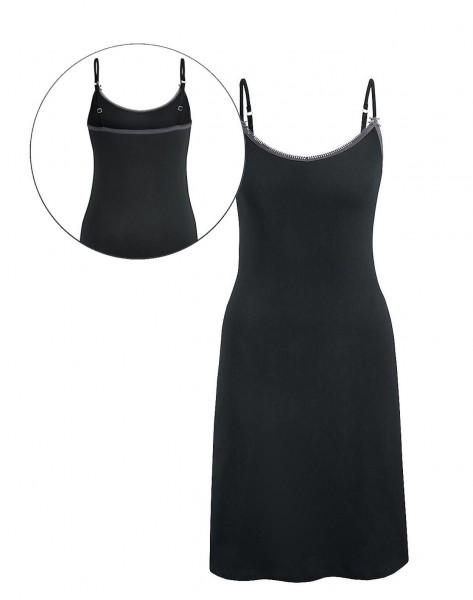 Tchibo TCM Damen Nachthemd mit Trägern Schwarz