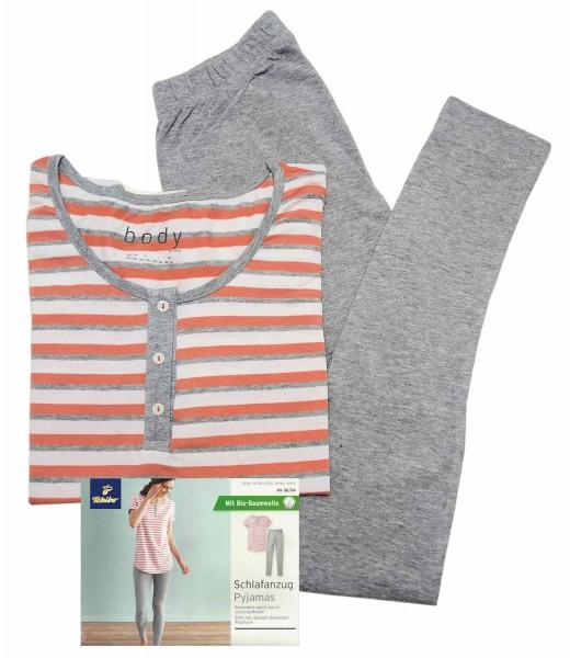 TCM Tchibo Schlafanzug mit Leggings Grau gestreift