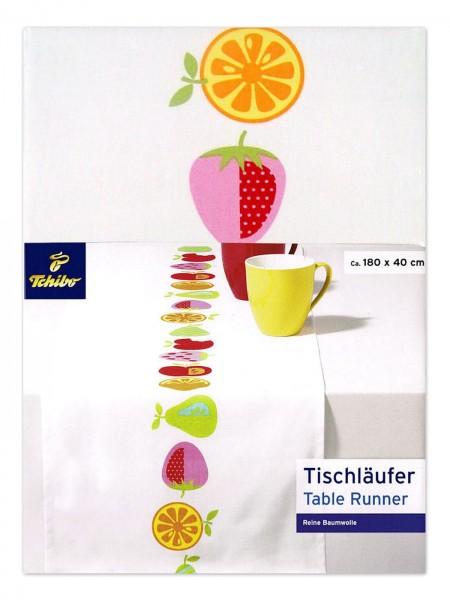TCM Tchibo Tischläufer mit Früchtemotiven