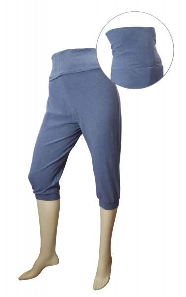 TCM Tchibo Damen Caprihose Blau grau meliert