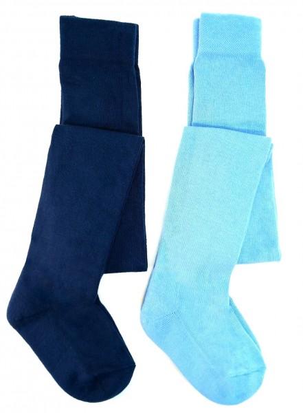 TCM Tchibo 2 Paar Kinder Strumpfhosen Blau/Hellblau 86/92