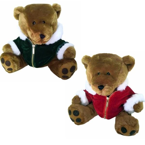Teddybär mit Samtjäckchen
