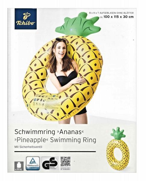 TCM Tchibo Schwimmring Ananas