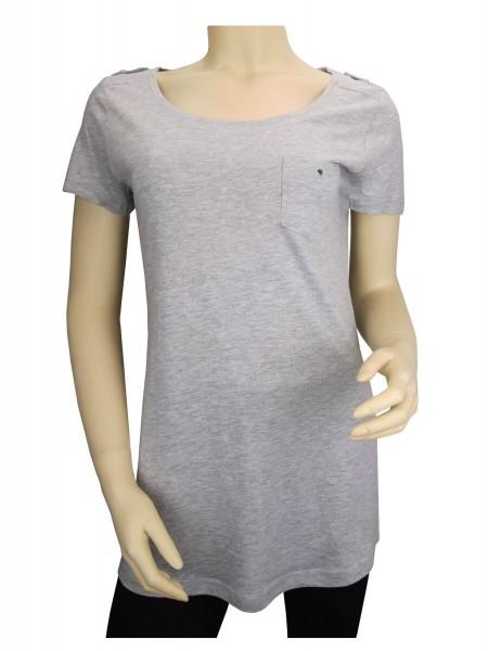 TCM Tchibo Damen Longshirt Grau
