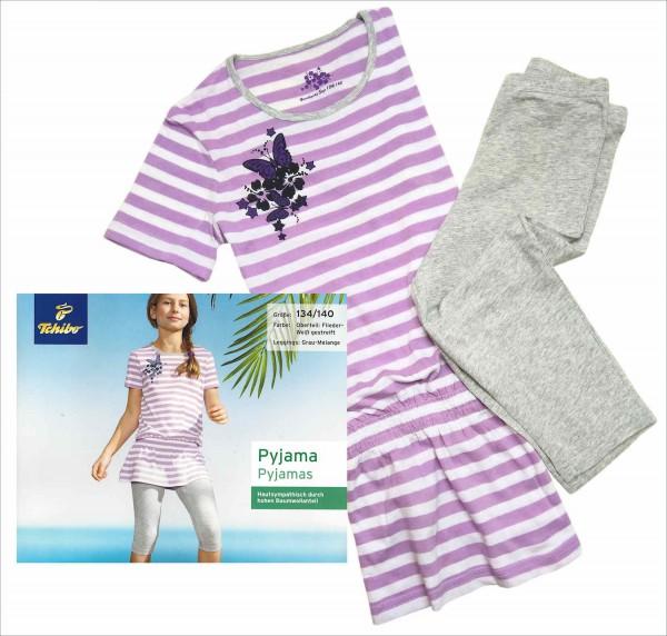TCM Tchibo Mädchen Schlafanzug mit 3/4 Leggings
