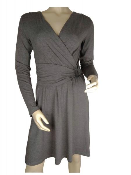 TCM Tchibo Damen Jersey Kleid Grau-melange 36