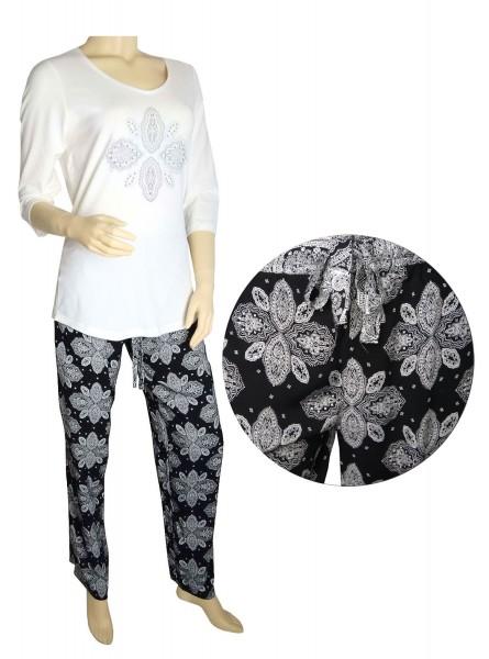 TCM Tchibo Damen Schlafanzug mit Webhose