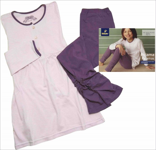TCM Tchibo Mädchen Schlafanzug Rosa-weiß 122/128