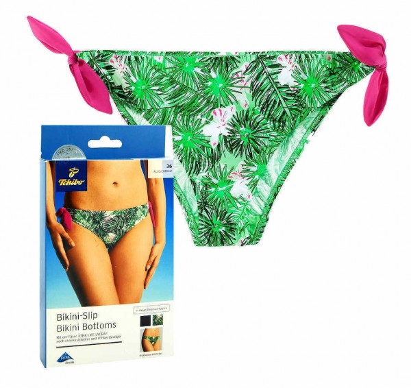 TCM Tchibo Damen Bikinislip Tropical Alloverprint