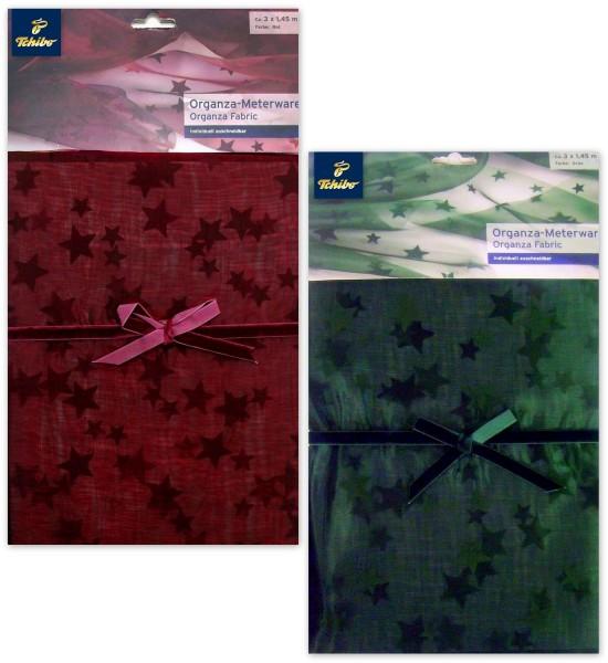 Organza Meterware Sternenmotiv von Tchibo TCM