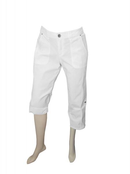 TCM Tchibo Damen Sommerhose 7/8 Cargohose Weiß 40