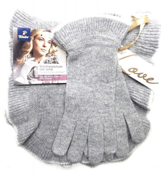 TCM Tchibo Damen Strickschal und Handschuhe im Set