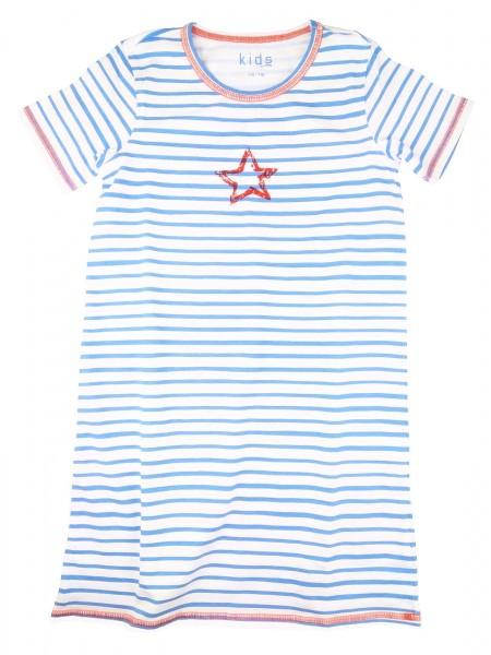 TCM Tchibo Mädchen Nachthemd Blau-weiß gestreift