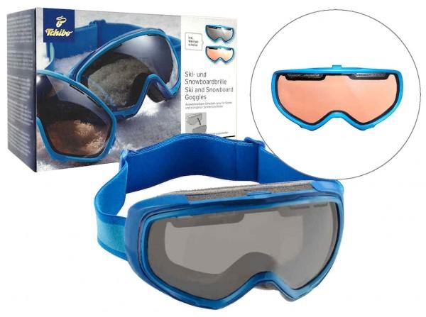 Ski-und Snowboardbrille mit Wechselscheibe von Tcm Tchibo