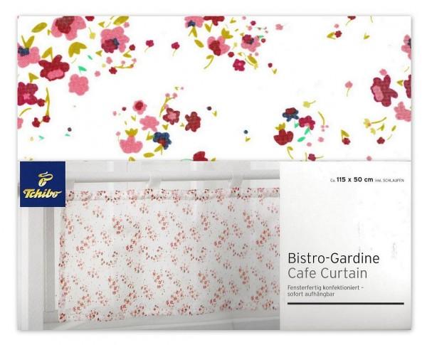 TCM Tchibo Bistrogardine mit Blumenmuster