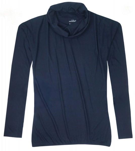 TCM Tchibo Damen Rollkragen Shirt Dunkelblau